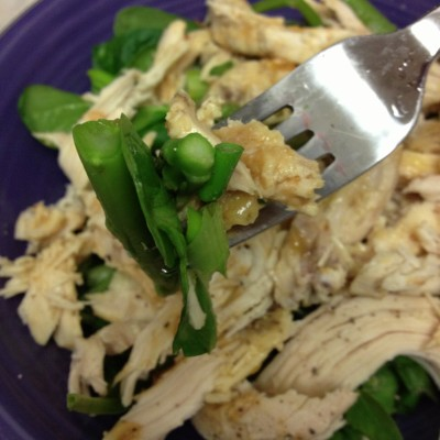 Asian Chicken Salad featuring my PB&J Chicken!