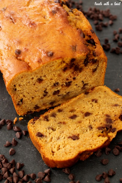 Bourbon-Spiked Chocolate Chip Pumpkin Banana Bread - Treats With a ...