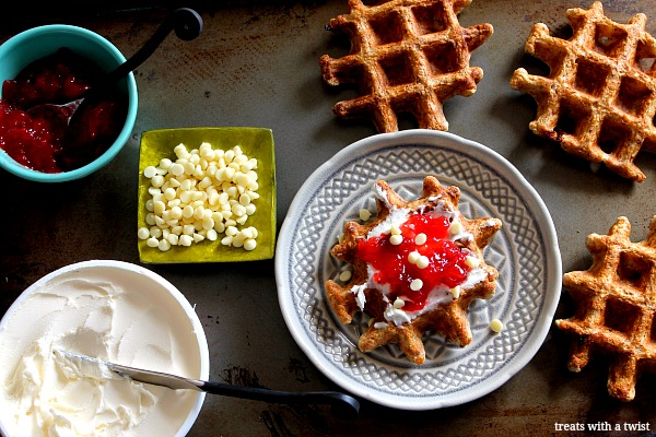 Decadent Waffles with Strawberry and Mascarpone