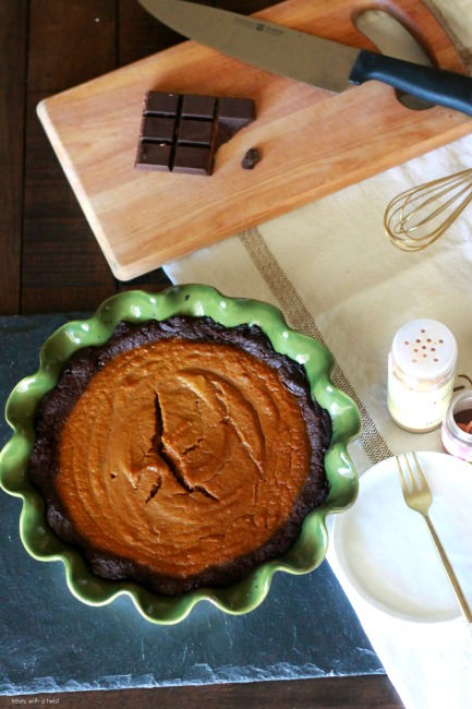 Brownie bottomed pumpkin pie treats with a twist for Pumpkin pie with a twist