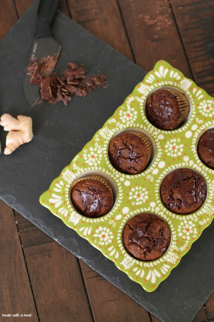 Banana Chocolate Chunk Gingerbread Muffins