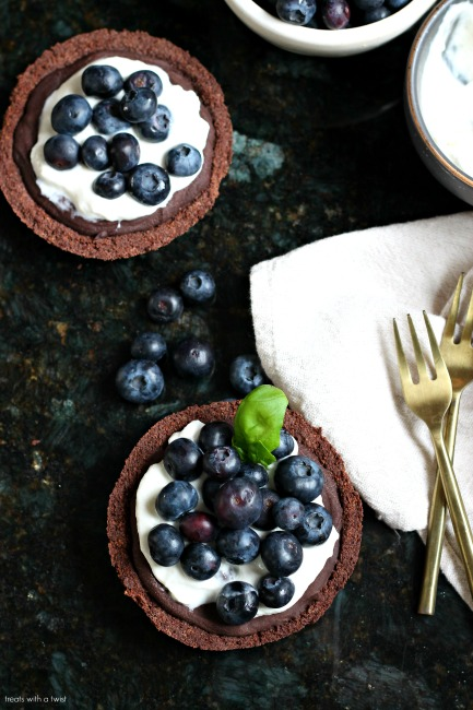 Red Wine Chocolate Berry Tart for two
