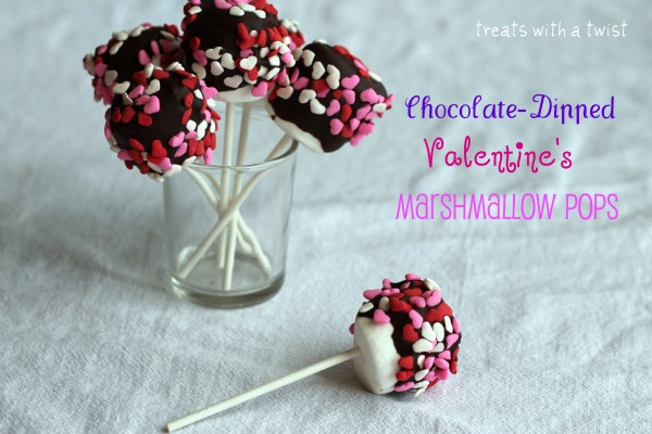 Chocolate Dipped Valentine S Marshmallow Pops Treats